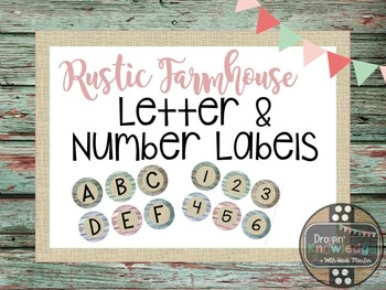 Rustic Farmhouse Classroom Book Bin/Word Wall Labels