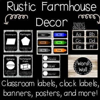 Rustic Farmhouse Classroom Decor