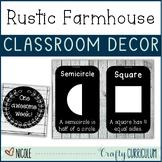 Rustic Farmhouse Theme Classroom Decor BUNDLE!