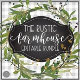 Rustic Farmhouse EDITABLE Classroom Decor BUNDLE