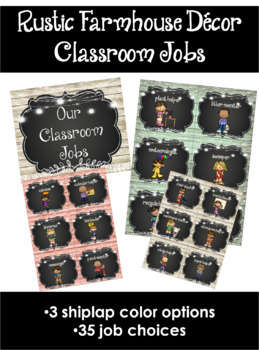Rustic Farmhouse Classroom Jobs