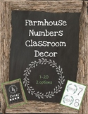 Rustic Farmhouse Classroom Number Posters