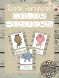 Rustic Farmhouse Color Posters