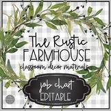 Rustic Farmhouse EDITABLE Job Chart