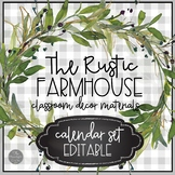 Rustic Farmhouse Editable Calendar Set