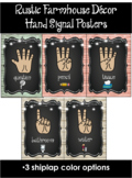 Rustic Farmhouse Hand Signal Posters