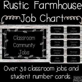 Rustic Farmhouse Job Chart