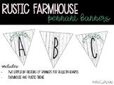 Rustic Farmhouse Pennant Banners - Freebie