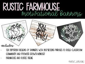 Rustic Farmhouse Motivational Banners