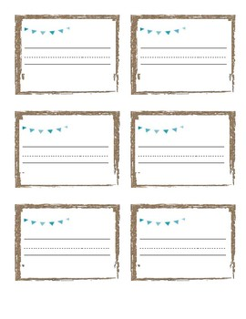 Name Tags Farmhouse Rustic