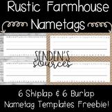 Rustic Farmhouse Name tags Freebie