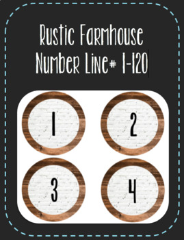 Rustic Farmhouse Number Line (1-120)