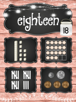 Rustic Farmhouse Number Posters