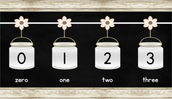 Rustic Farmhouse Number line