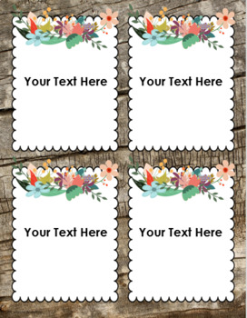 Rustic Farmhouse Shabby Chic Classroom Labels Decorations Editable Powerpoint