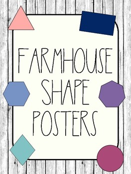 Farmhouse Shape Posters