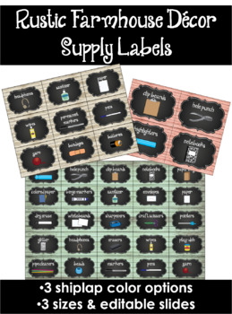 Rustic Farmhouse Supply Labels