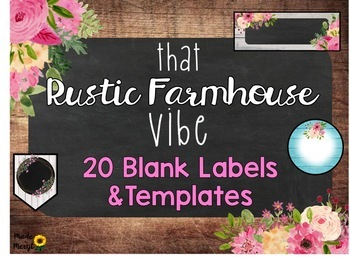 Rustic Farmhouse Templates and Labels
