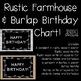 Rustic Farmhouse Theme Birthday Chart