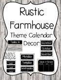 Rustic Farmhouse Theme Calendar Decor