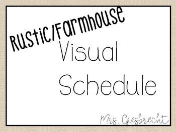 Rustic/Farmhouse Visual Schedule