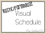 Rustic/Farmhouse Visual Schedule