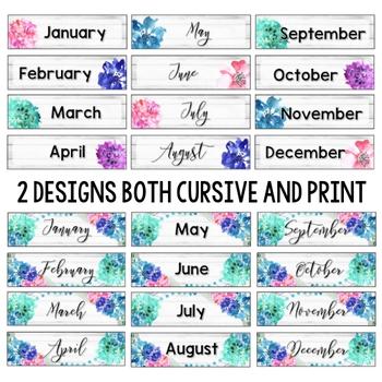 Rustic Floral Calendar Set