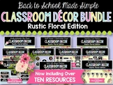 Rustic Floral Classroom Decor BUNDLE