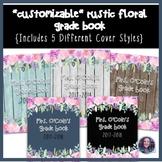 Rustic Floral Grade Book {Editable}