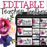 Farmhouse Classroom Decor Teacher Toolbox Labels