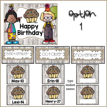 Rustic Happy Birthday