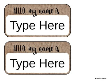 """Rustic """"Hello My Name is"""" Name Tags Makin Middle Memorable"""