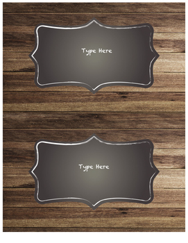 Rustic Large Labels