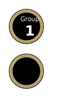 Rustic Math Rotations Labels