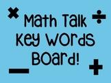 Rustic Farmhouse Math Talk Key Words Bulletin Board