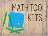 Rustic Math Tool Kit Labels (Base 10 blocks)
