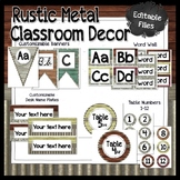Rustic Metal and Wood Classroom Decor