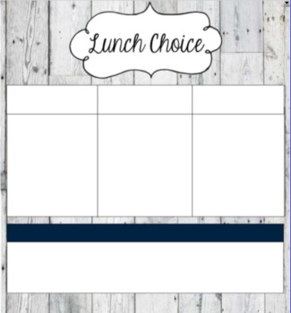 Rustic Morning Message & Lunch Choice SMART Document