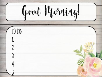 Rustic Morning Work Background