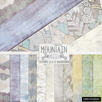 Winter Digital Paper Rustic Mountain, Outdoor Adventure Textured Backgrounds