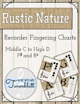 Rustic Nature Recorder Fingering Charts