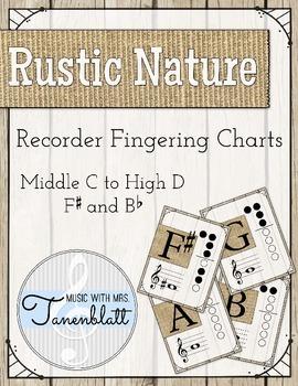 Rustic Nature Recorder Fingering Charts