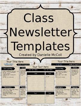 Rustic Newsletter Template *Editable*
