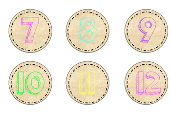 Rustic Number Cards