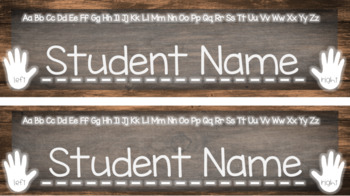 Rustic Primary Student Name Tag - Customizable