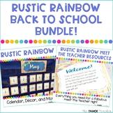 Rustic Rainbow Classroom Decor and Meet the Teacher Bundle