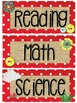 Rustic Red Classroom Decor - Red & White Dots, Burlap, Mason Jars ~Editable~