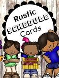 Rustic Schedule Cards {Editable}