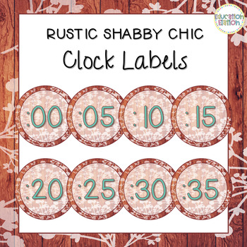 Rustic Shabby Chic Clock Labels