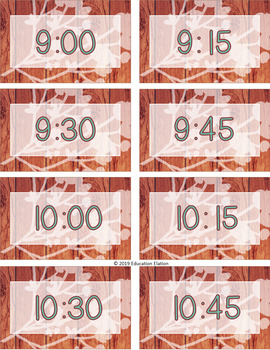 Rustic Shabby Chic Editable Schedule Cards